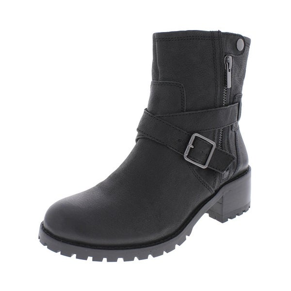 424 Fifth Womens Walcott Motorcycle Boots Leather Ankle