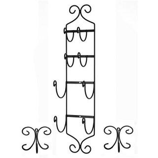 Concept Housewares TR-30100 Towel Rack with 2 Hangers, Black
