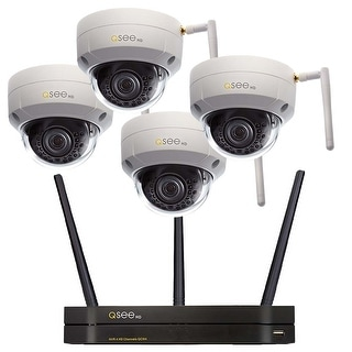 Q-See 4 Channel Wi-Fi Security System with 4 Wi-Fi 3MP Dome Cameras 1TB HDD