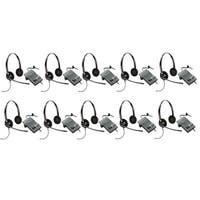 Plantronics EncorePro HW520 with M22 (10-Pack) Binaural Noise-Cancelling Headset