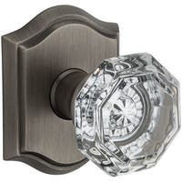 Baldwin HD.CRY.TAR Crystal Single Dummy Door Knob with Traditional Arch Trim from the Reserve Collection - N/A