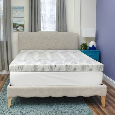 Bamboo Charcoal Infused Memory Foam Mattress Topper from SensorPEDIC