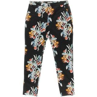 Rebecca Minkoff Womens Molina Floral Print Stretch Dress Pants - 10