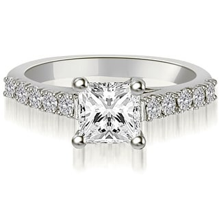 Link to 18K White Gold 0.60 CT Lucida Princess & Round Cut Diamond Engagement Ring Similar Items in Wedding Rings