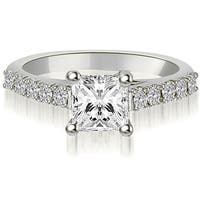 0.60 ct.tw Princess And Round Diamond Engagement Ring - White H-I
