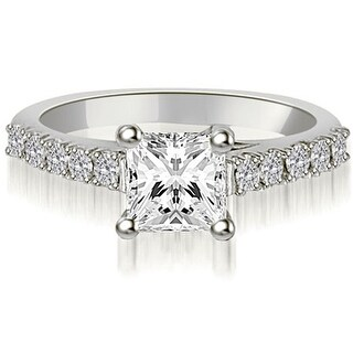 18kt White Gold Lucida 0.60 ct.tw Princess And Round Diamond Engagement Ring HI,SI1-2