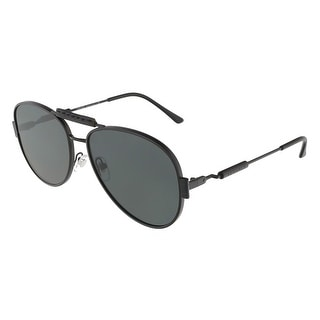 Versace VE2167Q 126187 Matte Black Aviator sunglasses - MATTE BLACK - 60-15-140