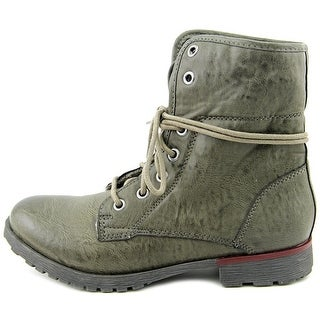 ROCK & CANDY Womens Spray Paint Closed Toe Ankle Fashion Boots