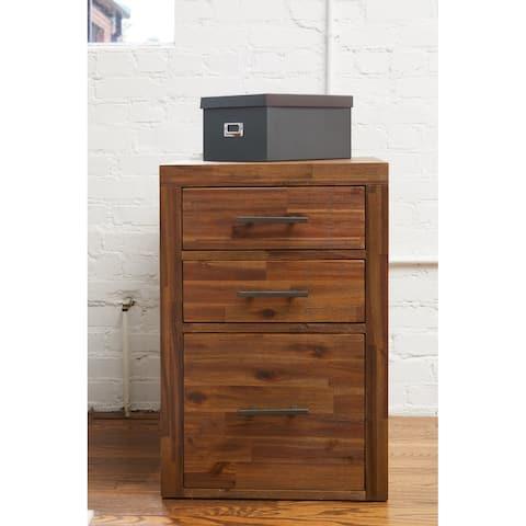 Rye Studio Elbert Rustic Farmhouse 3-drawer File Cabinet