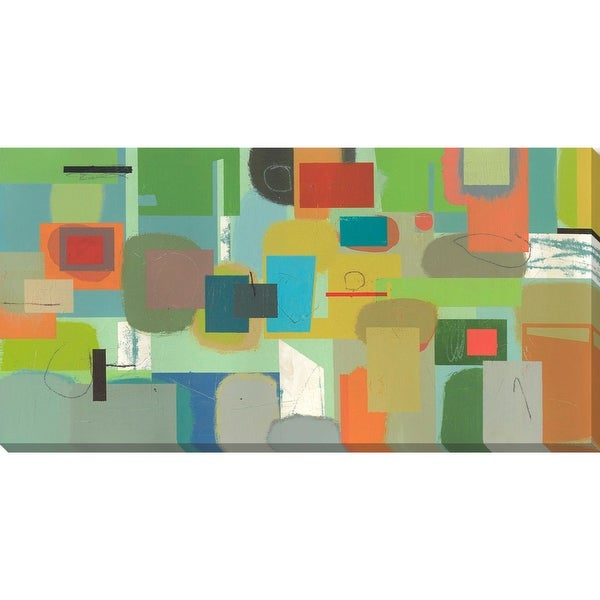 """48"""" x 24"""" Vibrantly Colored Rectangular Canvas Wall Art Decor - other-frame-size"""