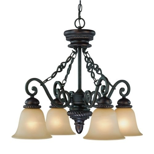 Jeremiah Lighting 25224 Highland Place Single Tier 4 Light Chandelier - 25.5 Inches Wide