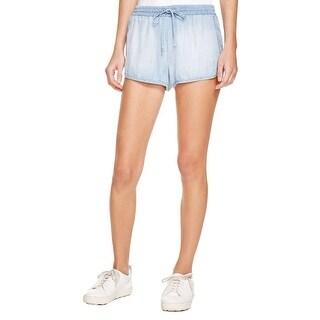 Bella Dahl Womens Sporty Casual Shorts Chambray Flat Front