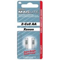 Maglite LM2A001  Replacement Lamp For AA Mini Flashlight, 2 Pack