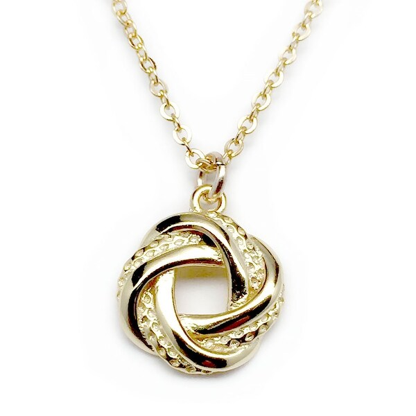 "Julieta Jewelry Love Knot Gold Charm 16"" Necklace"