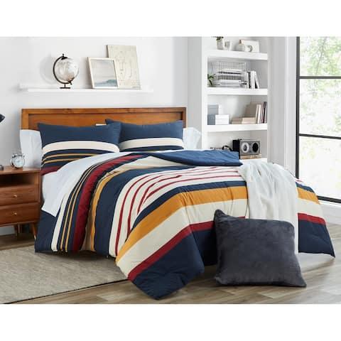 Nautica Hollins Cotton Navy Comforter Set