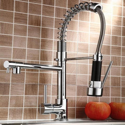 Pull Down Stainless 1 Handle2 Function Spray Swivel Kitchen Faucet