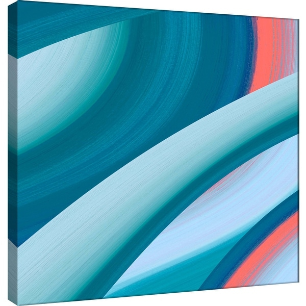 """PTM Images 9-100937 PTM Canvas Collection 12"""" x 12"""" - """"Ocean B"""" Giclee Abstract Art Print on Canvas"""