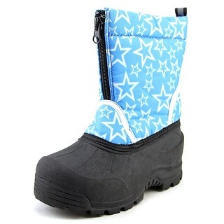 Northside Icicle Youth Round Toe Canvas Blue Winter Boot