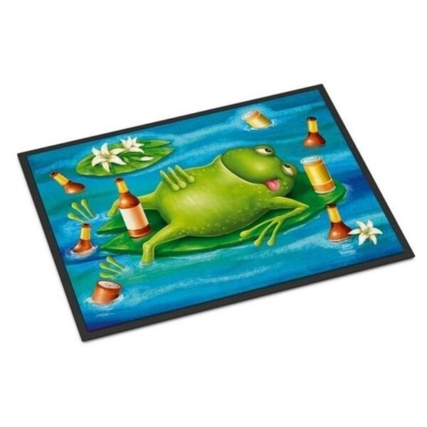 Carolines Treasures APH0093JMAT Frog Drinking Beer Indoor or Outdoor Mat 24 x 36 in.