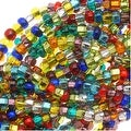 Czech Seed Beads Mix Lot 11/0 Rainbow Foil Lined - Thumbnail 0