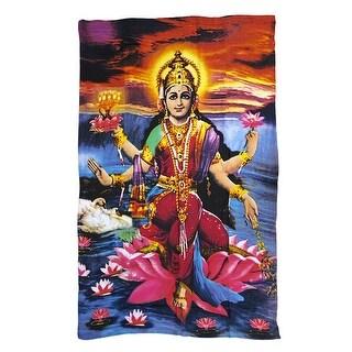 Beautiful Vibrant Lakshmi Hindu Goddess of Wealth Tapestry