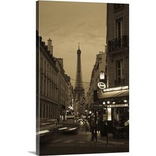 Premium Thick-Wrap Canvas entitled Eiffel Tower, Champ De Mars, Paris, Ile de France, France
