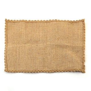 Jute Cup Heat Insulation Table Mat Placemat Coaster 30cm x 21cm Brown