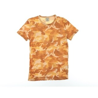 Zara Mens Camo Print Short Sleeves T-Shirt - S