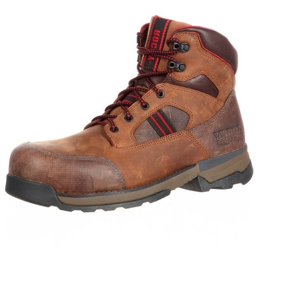 Rocky Work Boots Mens Mobilwelt Waterproof Composite Toe Brown