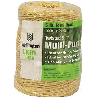 Wellington 43887 1-Ply Twisted Sisal Twine, 400'