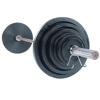 Body-Solid Cast Oly Set with Chrome Bar