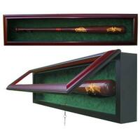 1 Baseball Bat Custom Mahogany Display Case UV Glass