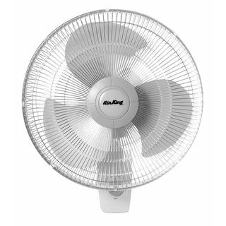 """Air King 9016 16"""" 1710 CFM 3-Speed Commercial Grade Oscillating Wall Mount Fan - na"""