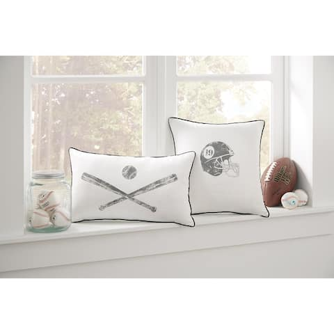 Waman Youth White Baseball Throw Pillow