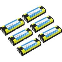 Replacement Panasonic HHR-P105 NiMH Cordless Phone Battery (6 Pack)
