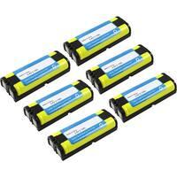 Replacement Panasonic KX-TG6700 NiMH Cordless Phone Battery (6 Pack)