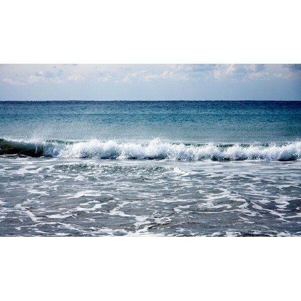 Ocean Waves Photograph Wall Art Canvas
