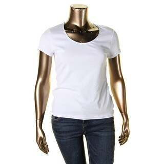Lauren Ralph Lauren Womens T-Shirt Scoop Neck Short Sleeves