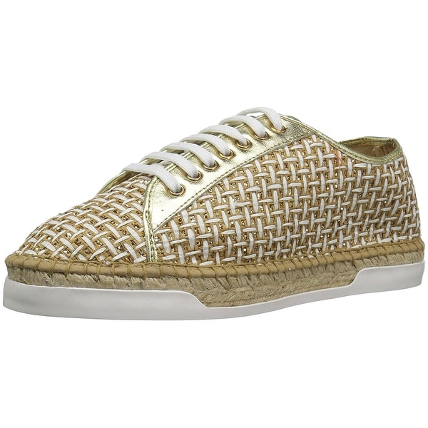 André Assous Womens shelley Fabric Low Top Lace Up Fashion Sneakers - Gold