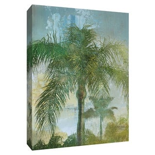 """PTM Images 9-148741  PTM Canvas Collection 10"""" x 8"""" - """"Contemporary Palm"""" Giclee Palm Trees Art Print on Canvas"""