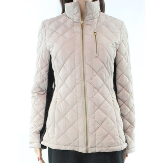 Calvin Klein NEW Beige Women's Size Small S Quilted Puffer Jacket