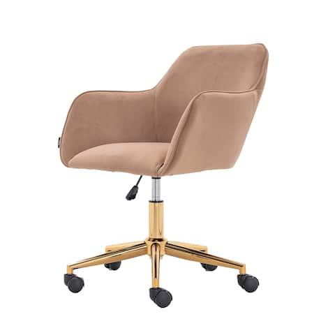 Modern Velvet Light Coffee Home Office Chair