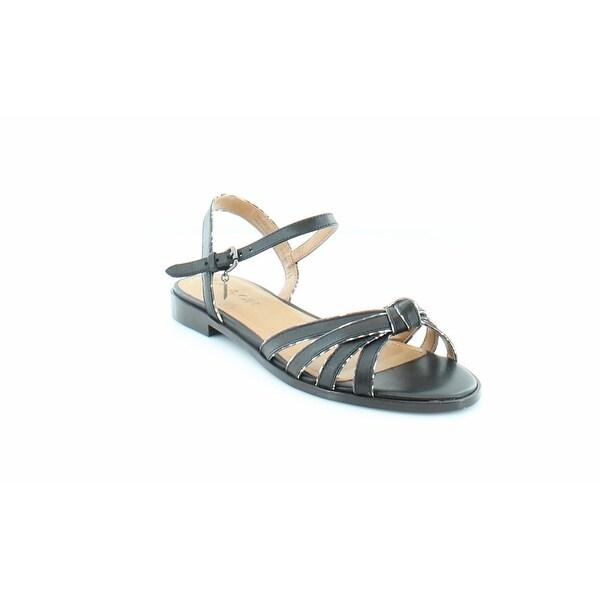 Coach Sophia Women's Sandals & Flip Flops Black/Black White - 6