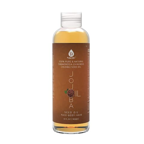 Pursonic 100% Cold Pressed Pure Golden 6-ounce Jojoba Oil for Skin/Dry or Damaged Hair