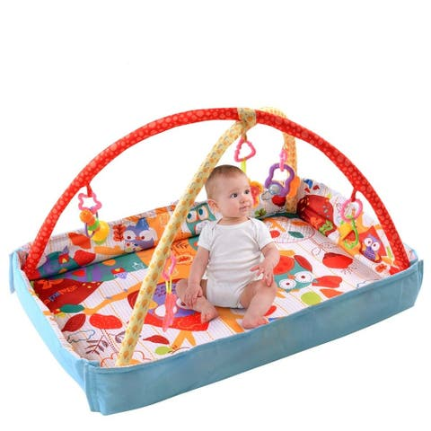 Costway 3 In 1 Multifunctional Baby Infant Activity Gym Play Mat - Multi - 33''x23''x19''