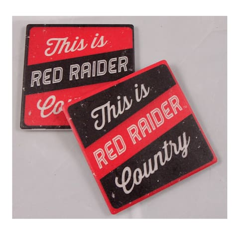 Texas Tech University Thirsty Coaster 4-Pack