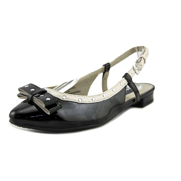Rialto Aria Women Round Toe Patent Leather Black Slingback Heel
