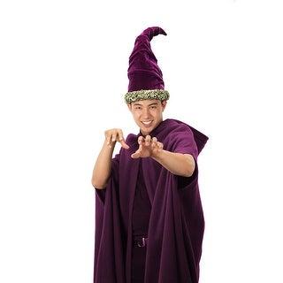 Fancy Wizard Tall Purple Adult Costume Hat