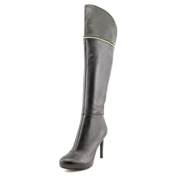 Bar III Womens Cecile Leather Closed Toe Mid-Calf Fashion Boots