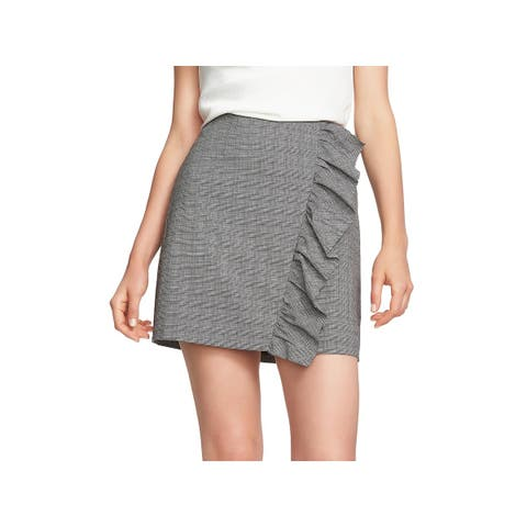 1.State Womens Mini Skirt Ruffled Plaid